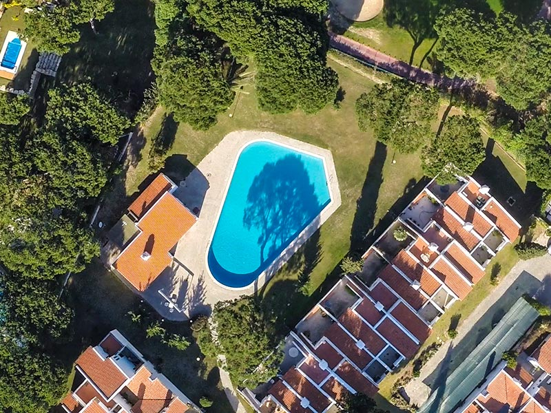 Aerial view of a development in Algarve